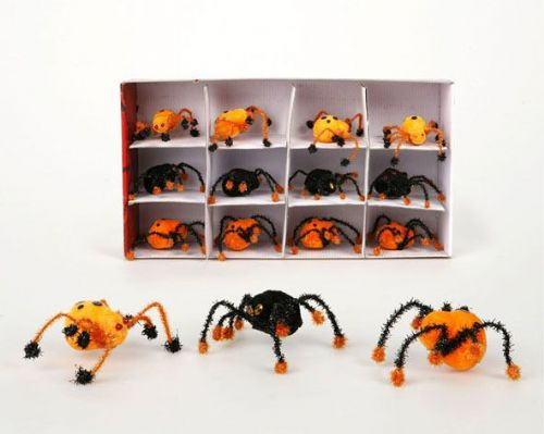 Spider on header card Orange or Black  9 Halloween Bug Trick Or Treat